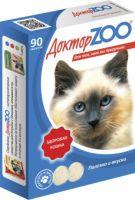 Доктор ZOO Витамины для кошек с морскими водорослями Здоровый иммунитет