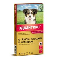 BAYER ADVANTIX ДЛЯ СОБАК ОТ БЛОХ, КЛЕЩЕЙ, КОМАРОВ 250 (10-25КГ ВЕСА) 1 ПИПЕТКА