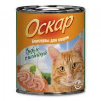 Влажный корм «Оскар» С индейкой нежное суфле для кошек