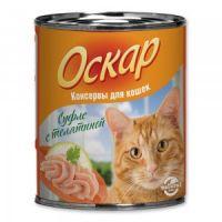 Влажный корм «Оскар» С телятиной нежное суфле для кошек
