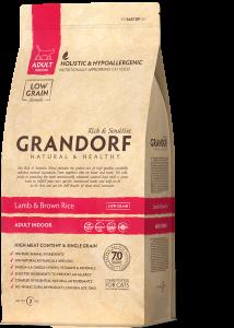 Grandorf (Грандорф) для кошек Ягнёнок с рисом Indoor