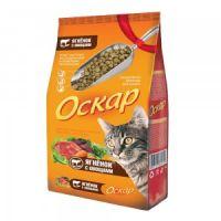 Сухой корм «Оскар» С ягненком и овощами для взрослых кошек