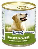Влажные корма Happy Dog  Линия Natur Вкусная баранина с сердцем, печенью и рубцом