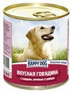 Влажные корма Happy Dog  Линия Natur Вкусная говядина с сердцем, печенью и рубцом