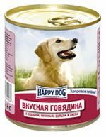 Влажные корма Happy Dog  Линия Natur Вкусная говядина с сердцем, печенью, рубцом и рисом