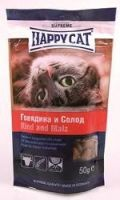 Лакомства Happy Cat Лакомые подушечки с говядиной и солодом
