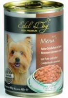 Влажные корма Edel Dog Кусочки в соусе Индейка и печень