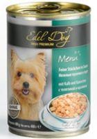 Влажные корма Edel Dog Кусочки в соусе С телятиной и кроликом