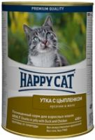 Влажные корма Happy Cat Утка и цыпленок в желе