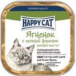 Влажные корма Happy Cat  Паштет Ягненок с зеленью фасолью
