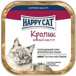 Влажные корма Happy Cat  Паштет Кролик
