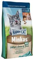Сухие корма Happy Cat Minkas Mix (Птица, ягненок и рыба)