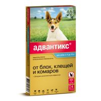 BAYER ADVANTIX ДЛЯ СОБАК ОТ БЛОХ, КЛЕЩЕЙ, КОМАРОВ 100 (4-10КГ ВЕСА) 1 ПИПЕТКА