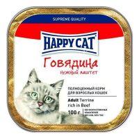 Влажные корма Happy Cat Паштет Говядина