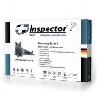 Inspector капли от внешних и внутренних паразитов для кошек от 4 до 8 кг