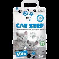 Cat Step Professional Elite бентонитовый комкующийся
