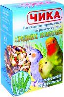 Чика Зерносмесь для средних попугаев с морской капустой