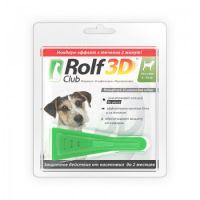 RolfClub 3D капли от клещей и блох для собак от 4 до 10 кг