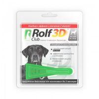 RolfClub 3D капли от клещей и блох для собак от 40 до 60 кг
